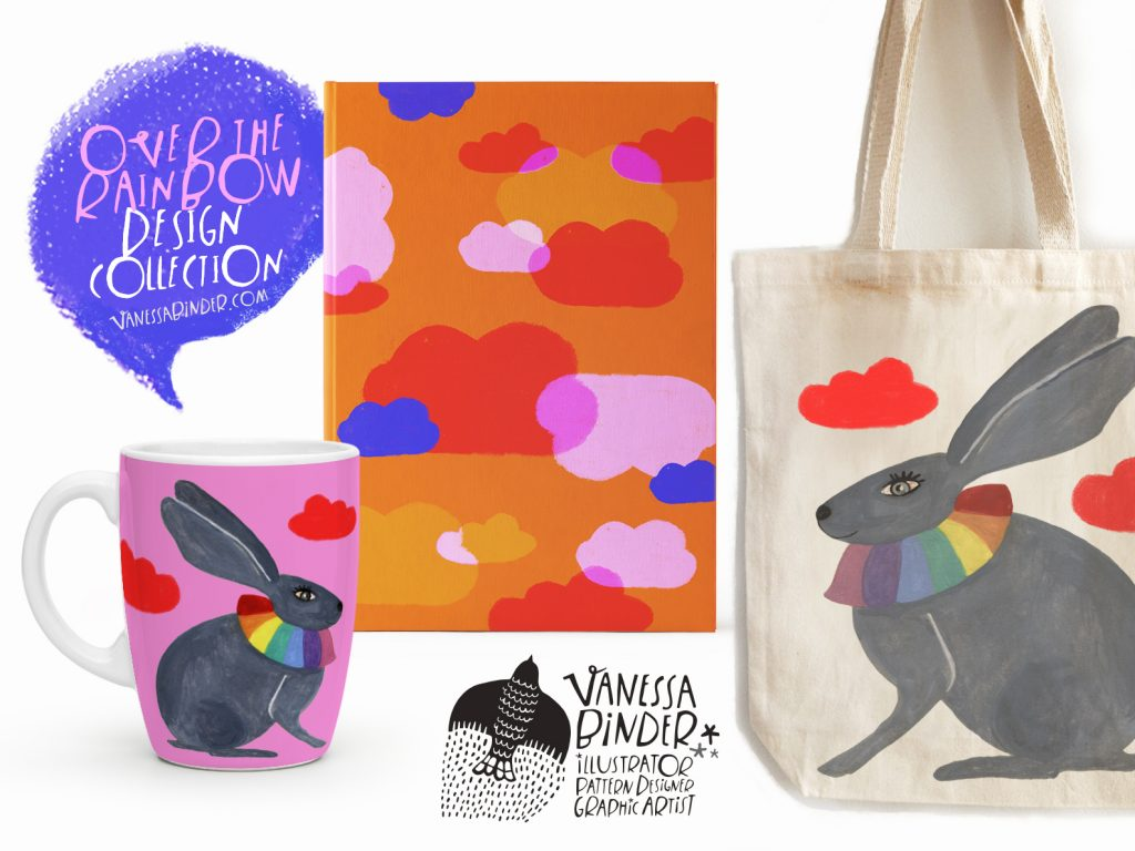 Stationery Gifts_Over The RainBow Collection by Vanessa Binder