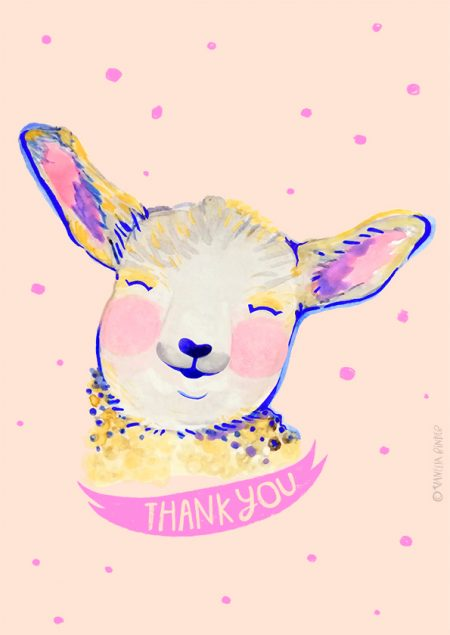 Baby Lamb Design_Illustration By VanessaBinder