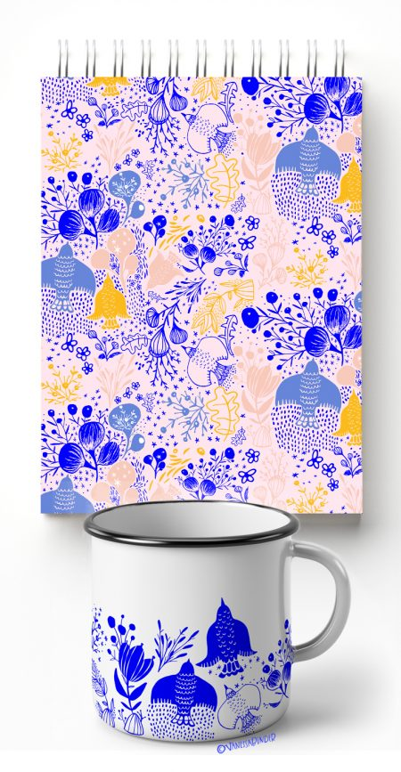 _Birds & Flowers Pattern Design Collection_By Vanessa Binder