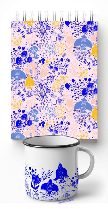 _Birds & Flowers Pattern Design Collection_By Vanessa Binder