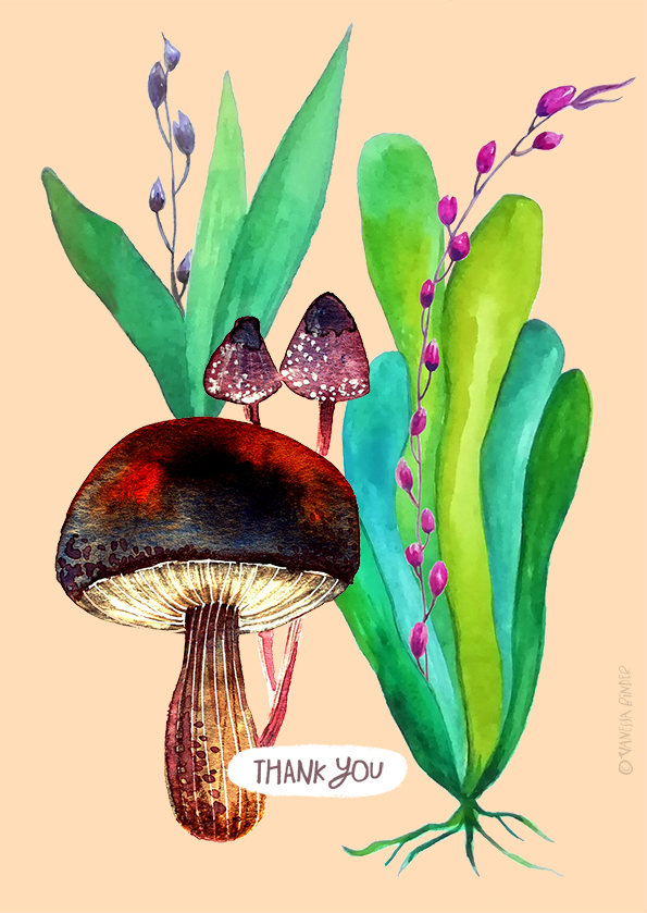 Botany+Mushroom_PosterByVanessaBinder