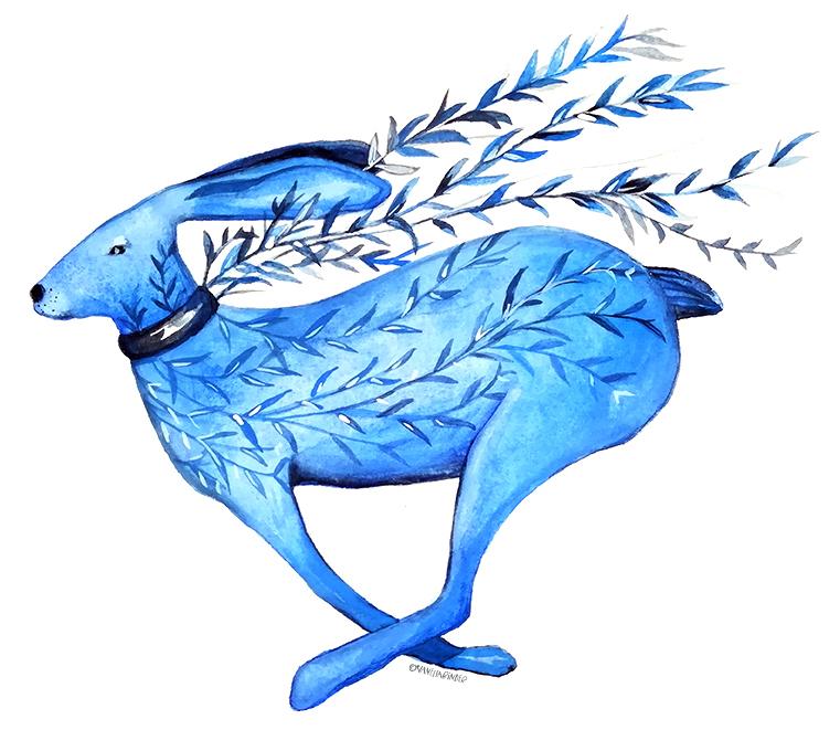FlyingBlueHare_IllustrationByVanessaBinder