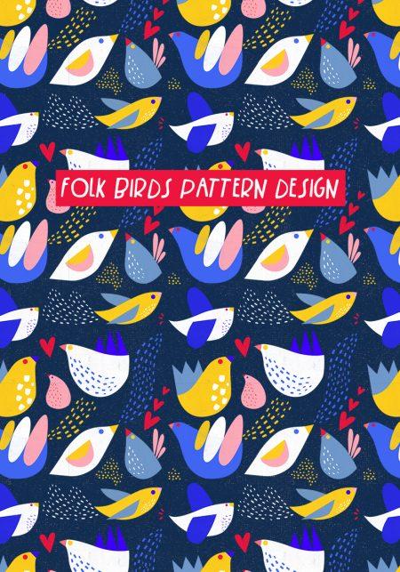 Folk-Birds-Pattern-Design-Vanessa-Binder