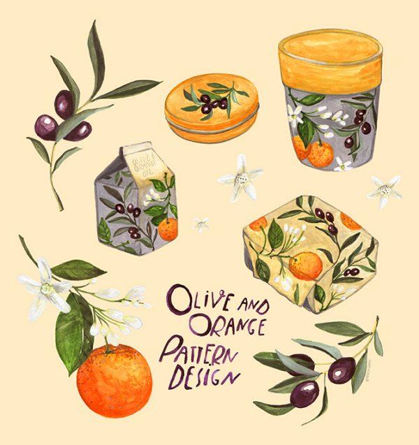 Orange&OlivePatternDesign_ByVanessaBinder02