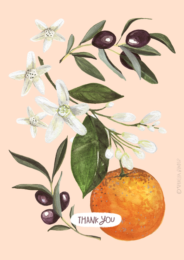 Oranges&Olives_CardDesign_illustrationByVanessaBinder