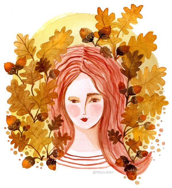TheQueenOfAcorns_IllustrationByVanessaBinder