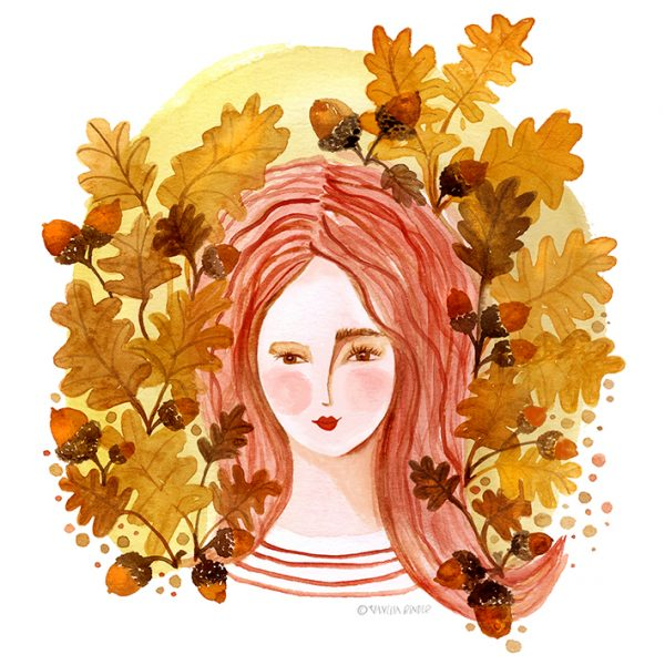 TheQueenOfAcorns_IllustrationByVanessaBinder
