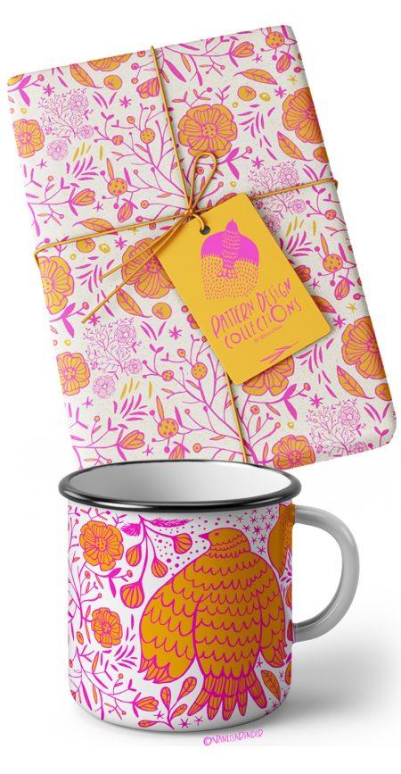 Birds & Flowers Pattern Design Collection_By Vanessa Binder