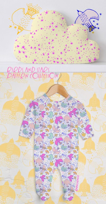 Birds & Little Stars Pattern Collection by Vanessa Binder