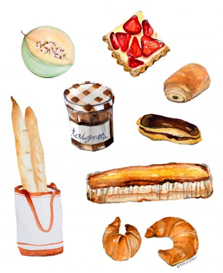 My French Diet_IllustrationByVanessaBinder