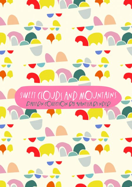 Sweet Clouds & Mountains Pattern Design