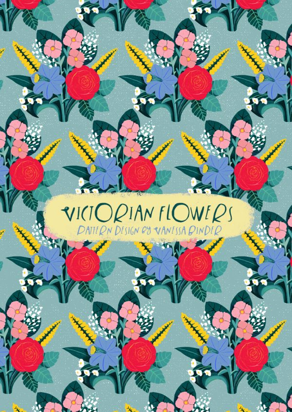 VICTORIAN FLOWERS pattern design by Vanessa Binder