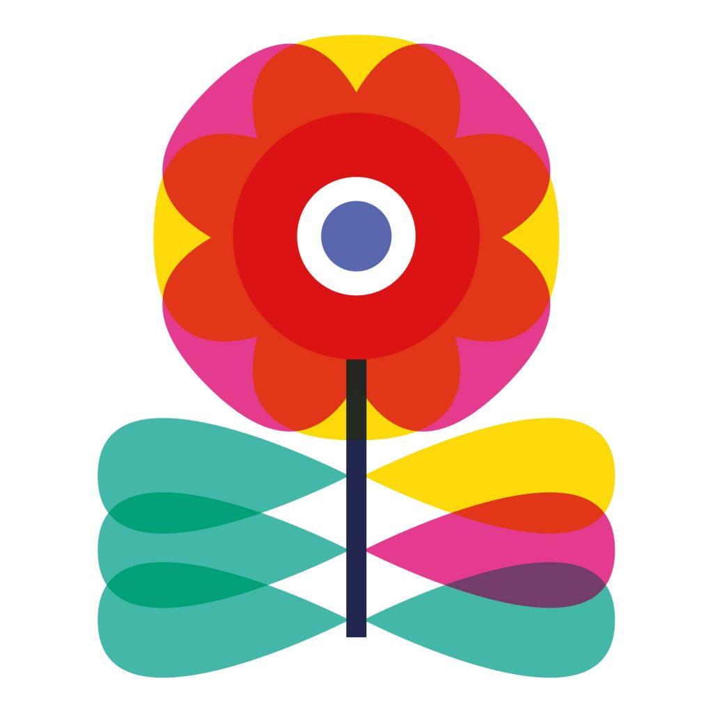 Scandinavian Flower Icon by Vanessa Binder